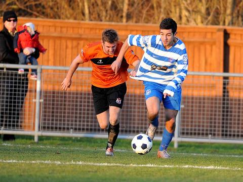 Oxford City boss Mike Ford says Felipe Barcelos (right) needs to keep up the good work when they travel to Workington tomorrow