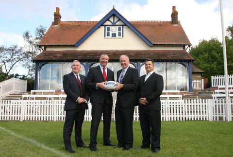 Oxford Rugby League were officially launched at Iffley Road. (From left): chief executive Tony Colquitt, RFL chief operating officer Ralph Rimmer, chairman Simon Lee and head coach Tony Benson