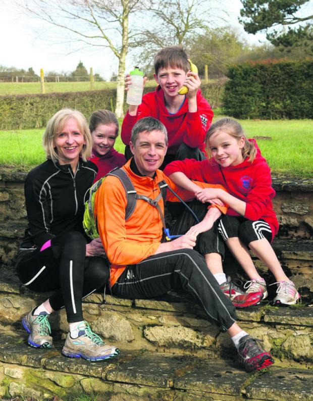 Dr Tim Betts with his wife Margaret and children Georgie, nine, Charlie, 13, and Hannah, 11. Picture: OX57394 Steve Wheeler