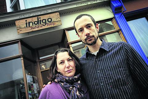 Josh Knight and Sarah Wearden of Indigo in Cowley Road