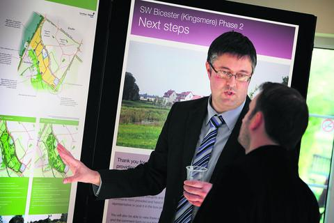 Steve Price of Countrywide Properties explains the proposals for the extension to Kingsmere Estate