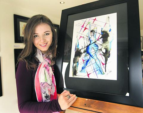 Amber-Lauren Ballantyne-Styles auctioned a painting for the eating disorder charity B-eat. Picture: OX57564 Antony Moore