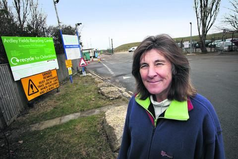 Serena Rees is pleased Ardley Fields recycling centre is staying open
