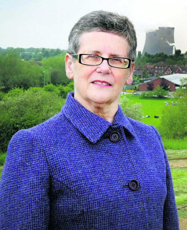 Town council leader Margaret Davies