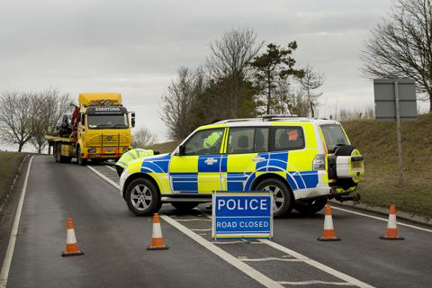 Fatal accident Thursday morning on the A4074.