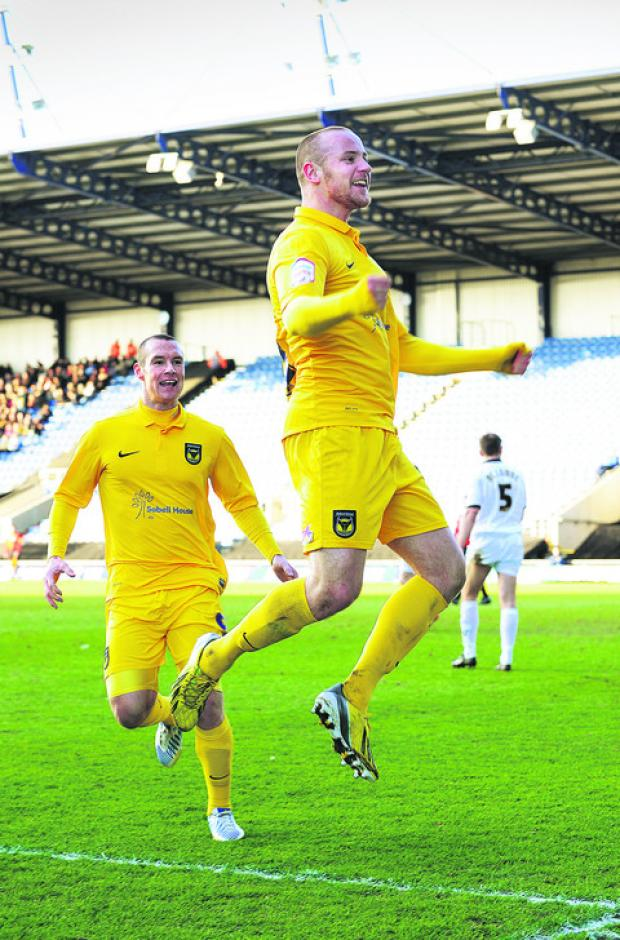Deane Smalley celebrates his winning goal