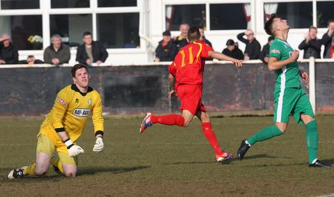 Michael Hopkins wheels away after putting Banbury ahead
