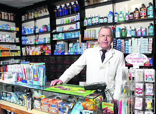 Cedric Reavley, owner of the oldest pharmacy in England