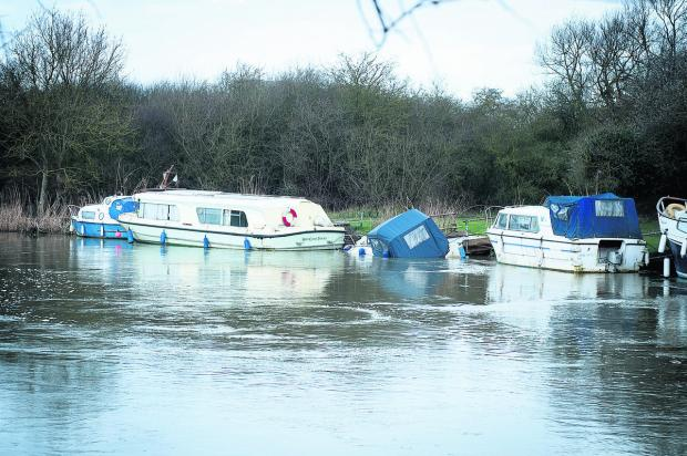 The boat near Godstow Bridge
