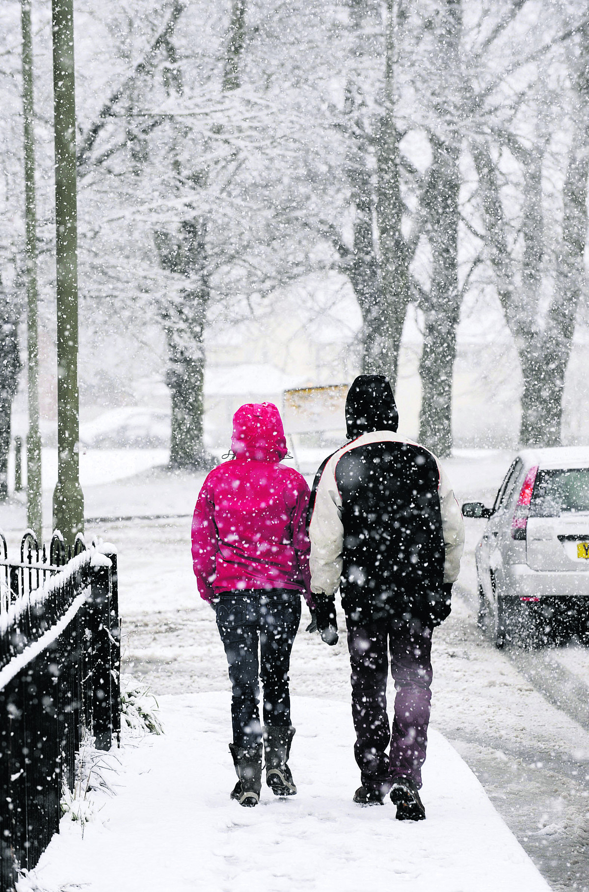 Snow predicted for parts of county today
