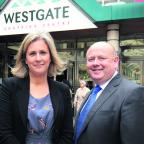 Oxford City Council leader Bob Price, left, Westgate Alliance development manager Sara Fuge and Oxfordshire County Council leader Ian Hudspeth at Westgate Centre