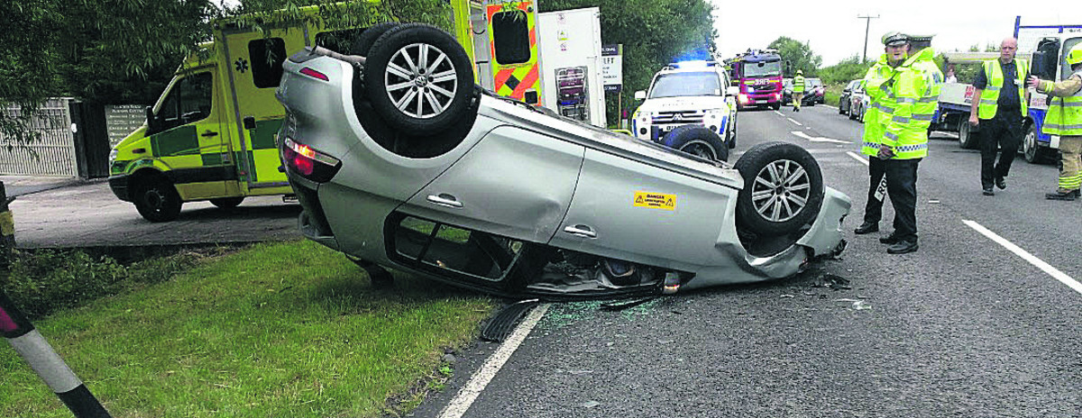 Car accident on A41 causes delay misery