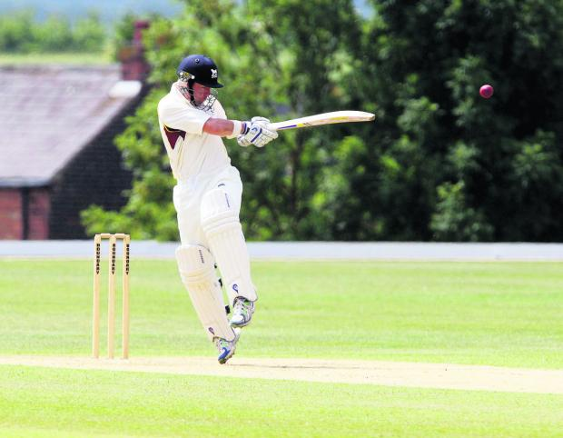 The Oxford Times: Richard Kaufman hits one of his ten fours in his half-century for Oxfordshire