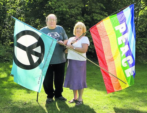 Nigel Day, of Oxford CND, and former city councillor Nuala Young