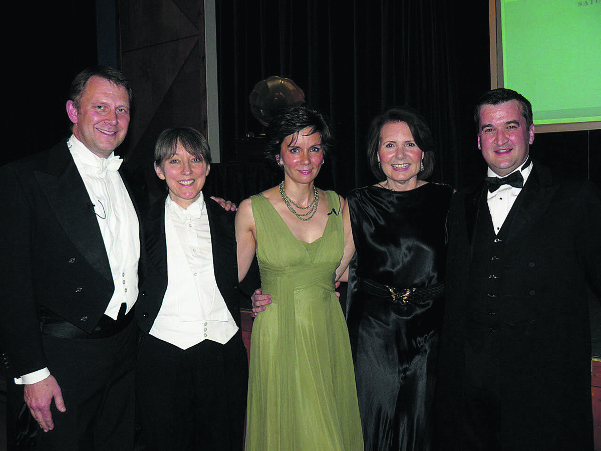 Gala: Mezzo soprano Rebecca Allison, centre, with pianist Nia Williams and Steve Mellin to her right, and Marilyn and Andrew Moore to her left