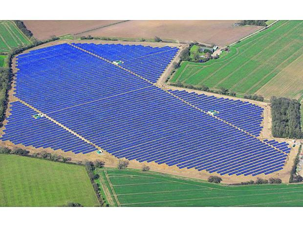 A smaller solar farm covering about 90 acres at Wissett, Suffolk