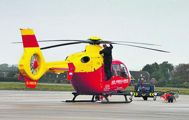 Air ambulance called to pick up patient from Oxford field