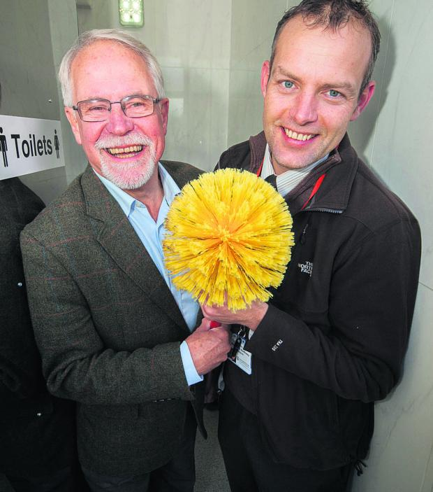 The Oxford Times: Cllr John Tanner and Cllr Mark Lygo, right, are flushed with joy at the new facilities