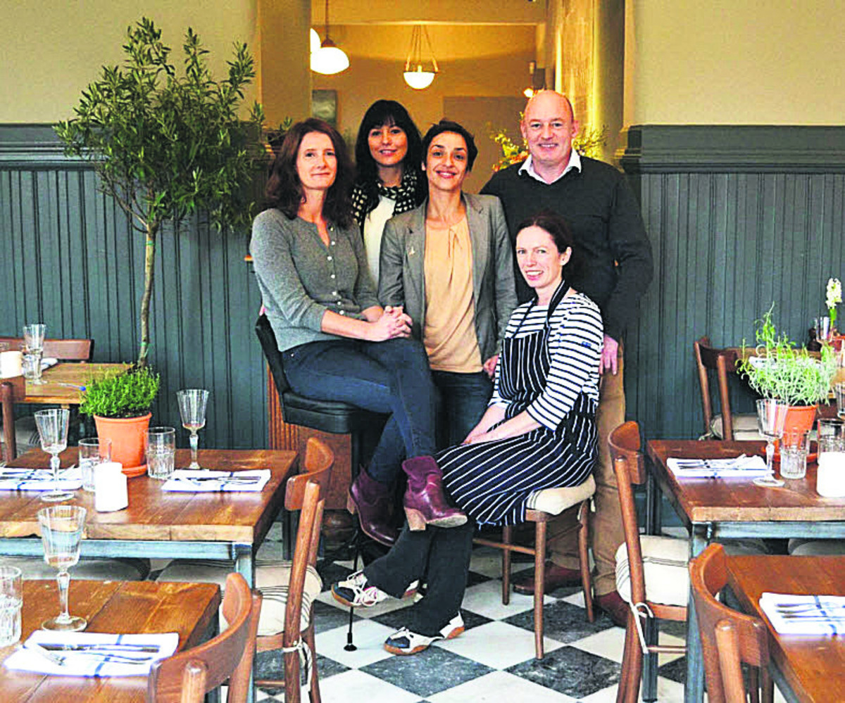Left to right: Justine Rosser, director of Duke Bars, Sara Robinson, manager, Celine Wills, manager, Fiona Cullinane, chef, Julian Rosser, managing director of Duke Bars