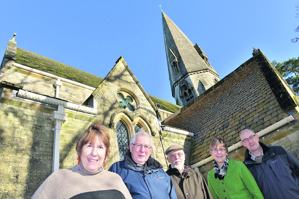 From left are Dr Jeanette Cayley, secretary of the project, Rev Dr Brian Ford, Peter Durrant, clerk of works, Nicky Bentley, church warden and her husband Simon Bentley, treasurer. Pictures: OX63571 Simon Willi