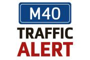 Traffic building on M40 between junctions 10 and 11