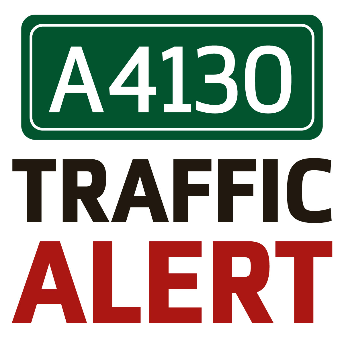 A4130 closed after accident