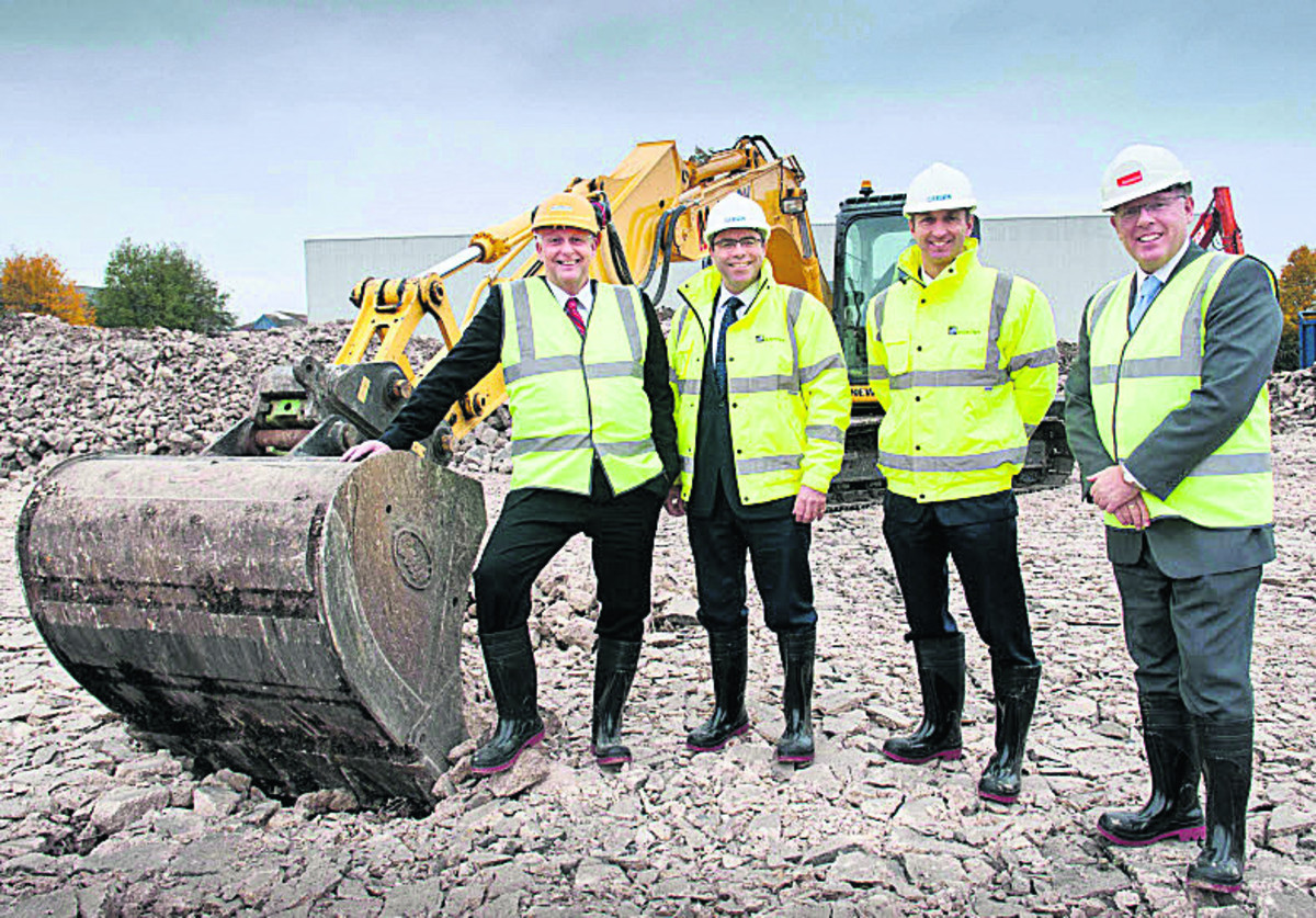 From left, Mike Ophield, James Dipple, the managing director of Milton Park, Andrew Barlow, commercial director of Milton Park, and Keith Worthington, financial director of Crowcon.