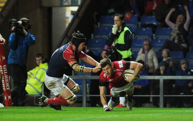 The Oxford Times: Alan Awcock goes over London Welsh's try