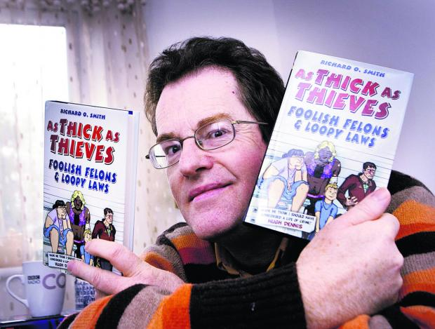 The Oxford Times: Comedy writer Richard O. Smith from Rose Hill with his third book As Thick As Thieves.  Picture: OX64176 Antony Moore