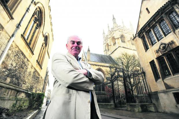 City councillor Dr Graham Jones outside Merton College
