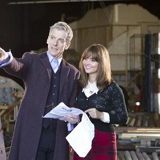 Actor Peter Capaldi admitted feeling nervous as he started work as the new Doctor Who with co-star Jenna Coleman