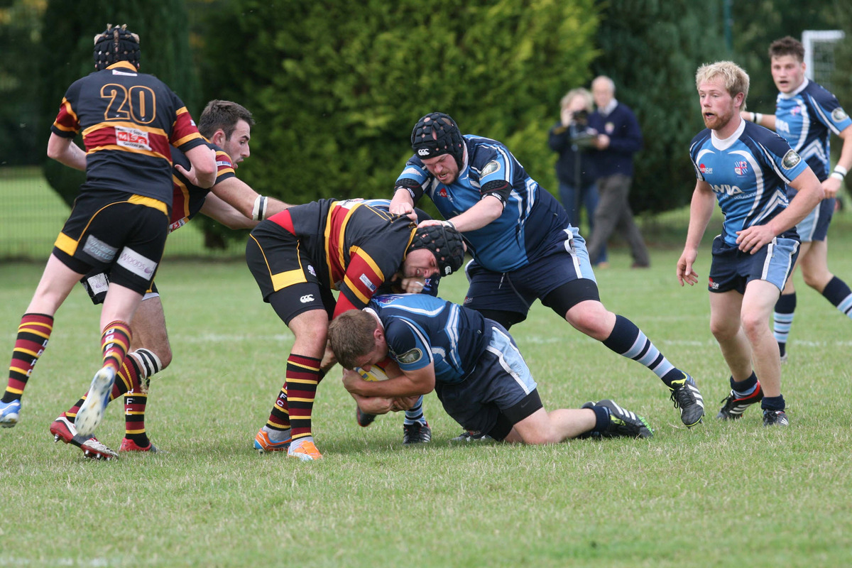 Alchester club captain Adam Thompson shows the determination his side will need to stay up