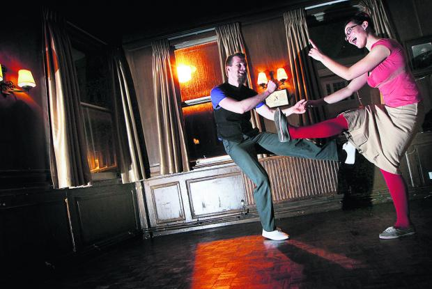 The Oxford Times: Tutors Vivien Nivesse, left, and Cassiope Sydoriak show how it's done