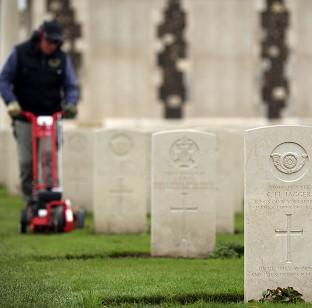The Tyne Cot Cemetery and Memorial in Ypres, Belgium, as the Commonwealth War Graves Commission prepares for the centena