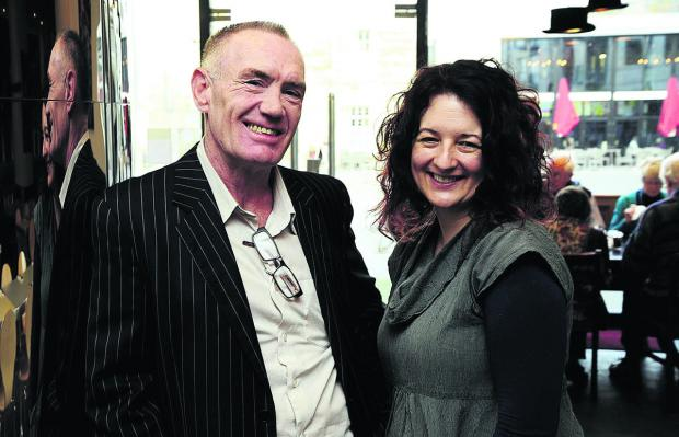 Clive Harris, 51, restaurant manager at The Big Bang, pictured with Jane Harris from Aspire.	Picture: OX64526 David Fleming