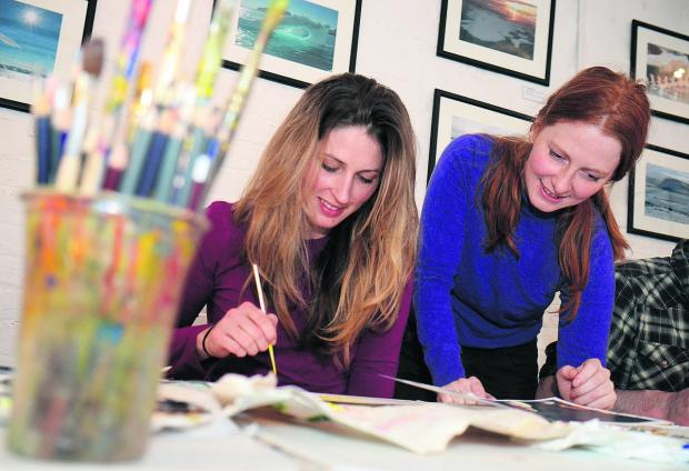 The Oxford Times: Broadcast journalist Alice Fletcher was among those who took the art course run by  tutor Josephine Lyons. Picture: OX64446 Marc West
