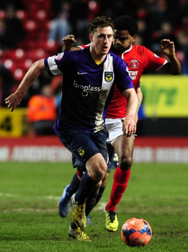 The Oxford Times: Scott Davies on the charge for United at Charlton