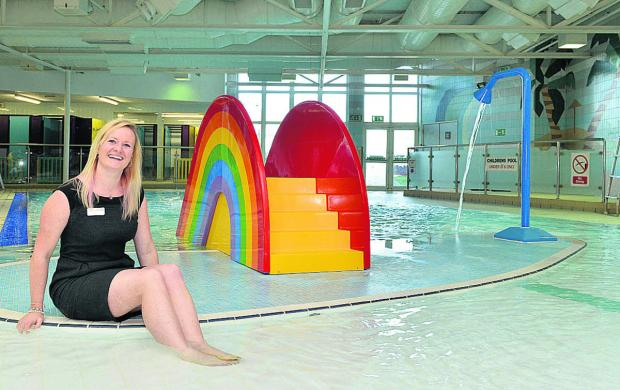 Liyen Ashby, Bicester Leisure Centre sports centre manager in the soon to be re-opened play and teach pool