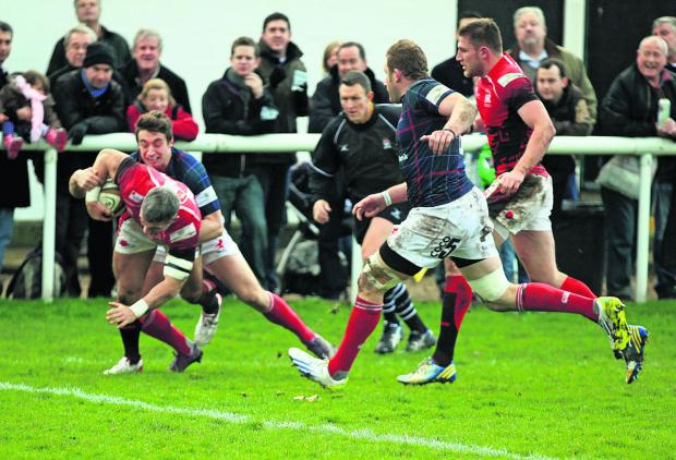 The Oxford Times: Skipper Tom May forces his way over for London Welsh's first try