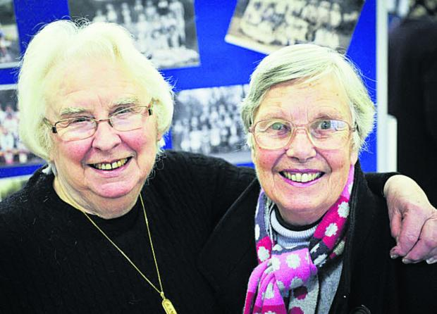 The Oxford Times: Old chums: Mary Timbrell and Cynthia Cobley who both attended the school from 1941-52
