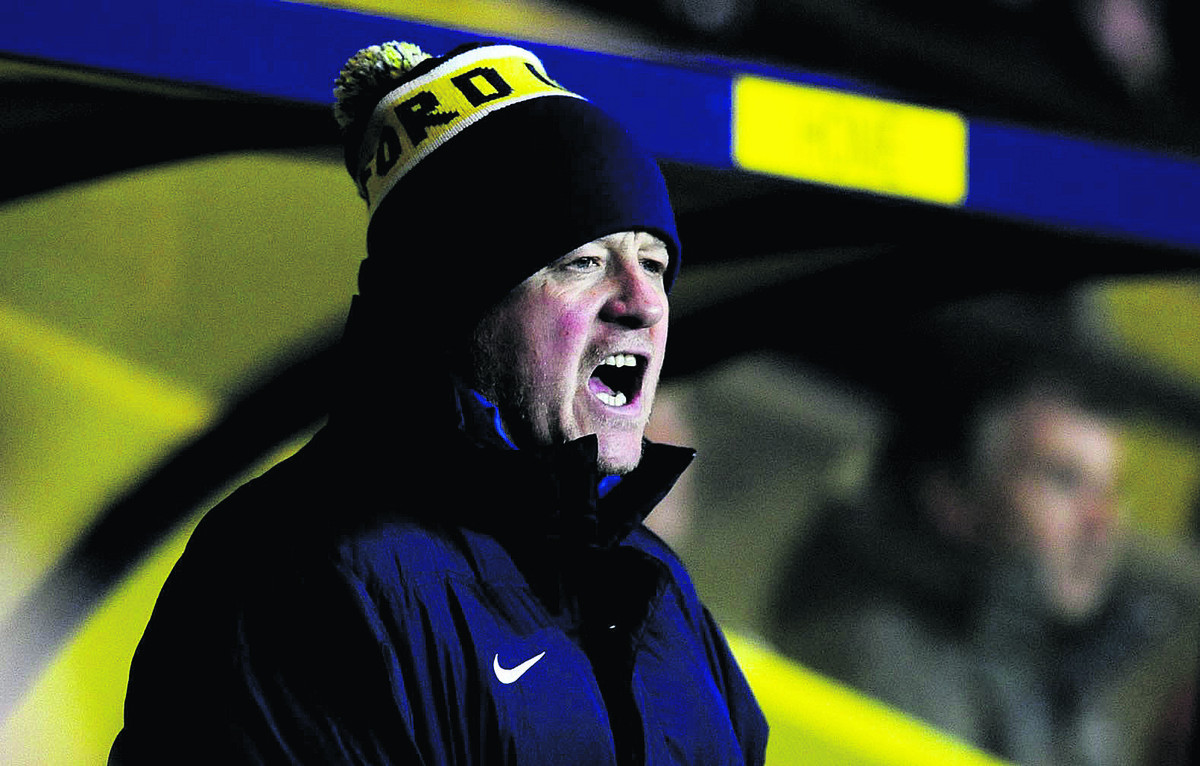 Chris Wilder tries to get his point across as his Oxford side are knocked out of the FA Cup following a 3-0 defeat at home to Charlton last night
