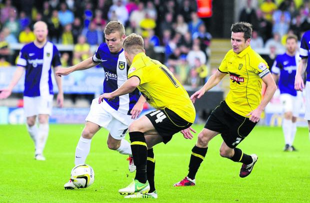 Alfie Potter's excellent start to the season included a stunning goal at Burton Albion