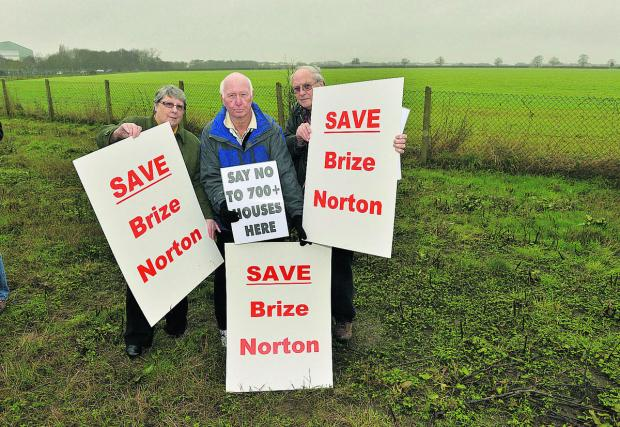 Brize Norton protesters Mary Jordan, Clive Homer, centre, and Phil Holmes