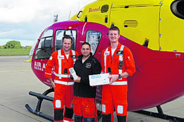 The Oxford Times: From left, paramedic Clive Stevens, Dr Syed Masud and paramedic Richard Company