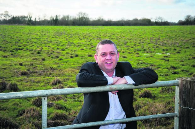 Steve Hornblow at the site of the Eco Town due to be built in North Bicester