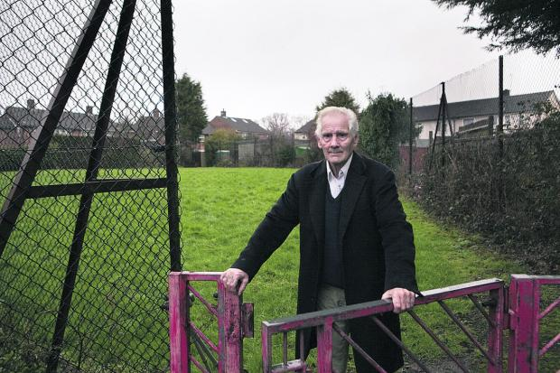 The Oxford Times: Pete Bonney at one of the play areas put up for sale by the city council