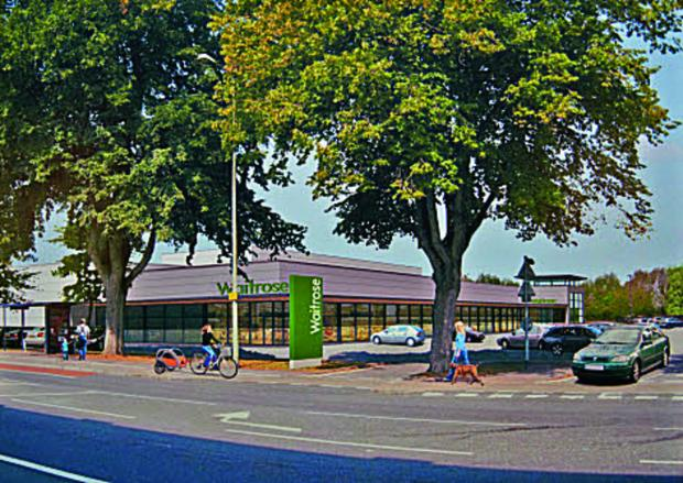 The Oxford Times: Artist's impression of a planned Waitrose on the Botley Road