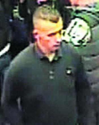 CCTV image of a man police want to speak to about the attack