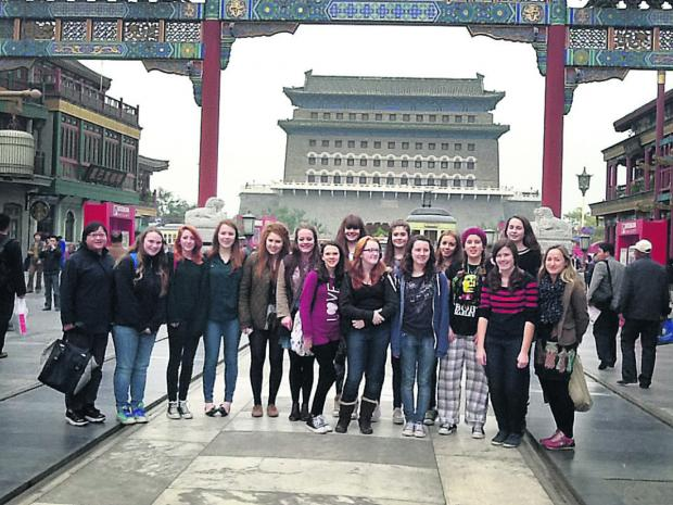 The Oxford Times: Pupils from Didcot pictured during one of the school's regular trips to China