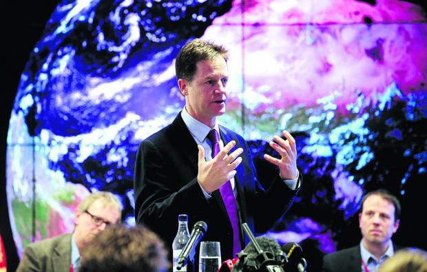 The Oxford Times: Science centre: Deputy Prime Minister Nick Clegg, speaking at the Harwell Science and Innovation Campus, where he officially signed the City Deal documents